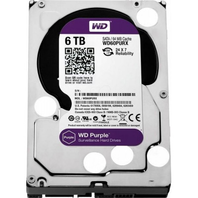 HDD 6TB WD60PURZ - Western Digital PURPLE 6TB 64MB cache