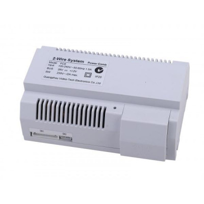 DPA-D2-PC6 - napájecí adaptér vč. injektoru pro D2 systém, montáž na DIN lištu, 1.5A