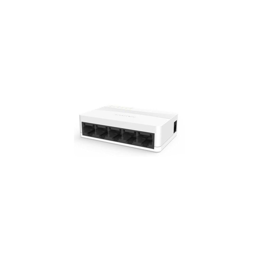 DS-3E0105D-E - switch 5x 10/100Mbps, bez PoE