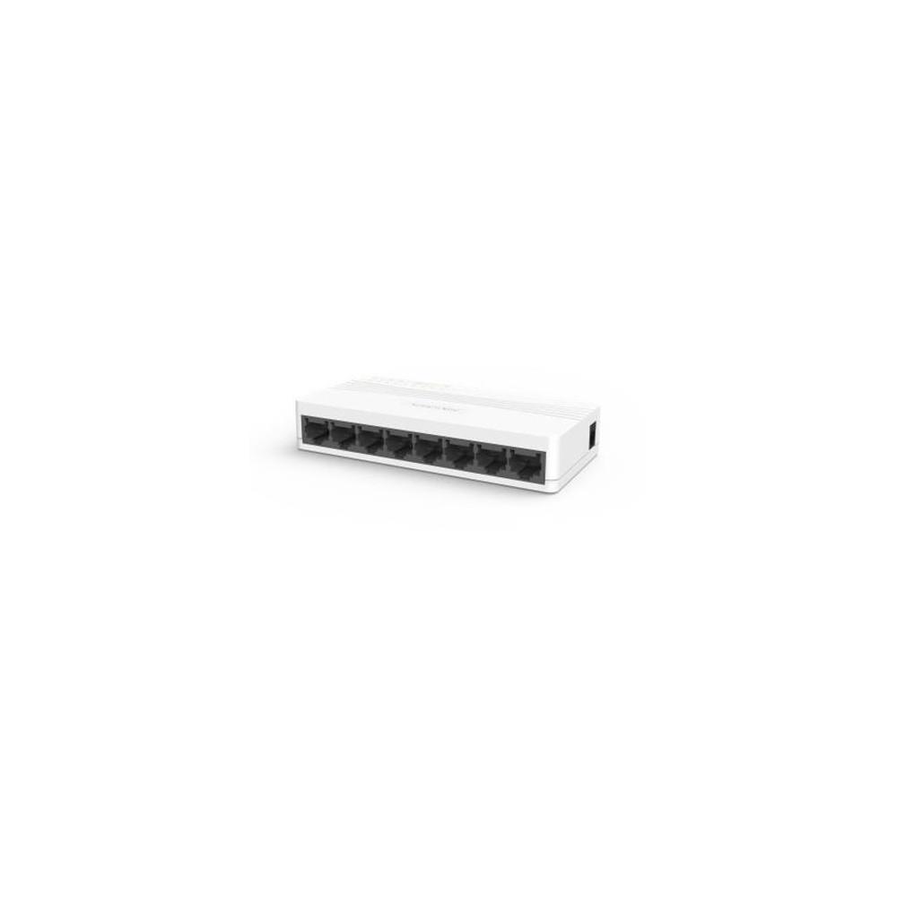DS-3E0108D-E - switch 8x10/100Mbps, bez PoE