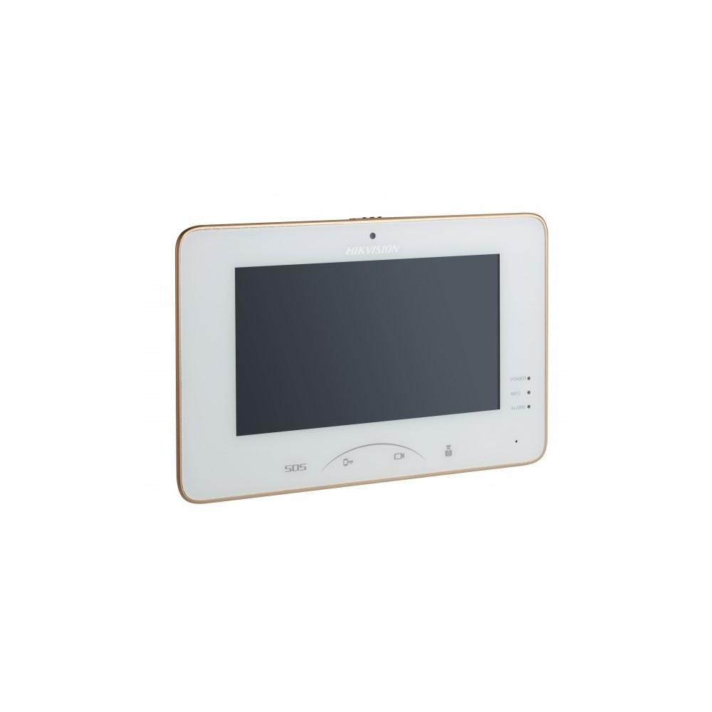 """DS-KH8301-WT - 7"""" IP bytový monitor s čelní kamerou, Hi-Res, Wi-Fi"""