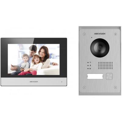 DS-KIS703-P - kit videotelefonu, 2-drát, bytový monitor + dveřní stanice + napájecí zdroj