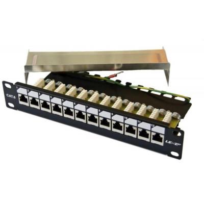 "PATCHP1F12P6-EX - LEXI-Net Patch panel EXCLUSIVE 12 ports CAT 6 FTP 10"""