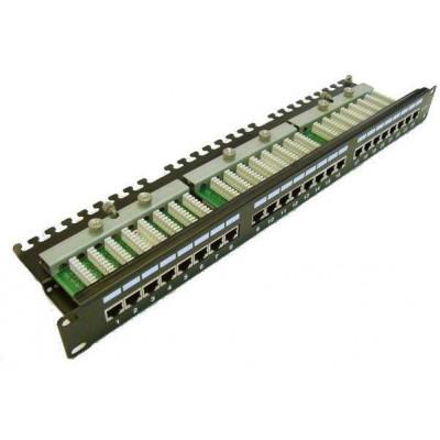 PATCHP24PHZF - LEXI-Net Patch panel 24 portů C5e s poličkou osazený FTP