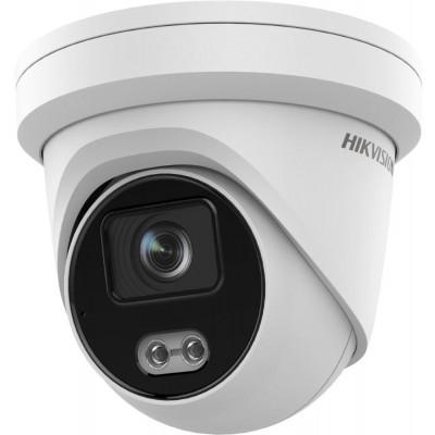 DS-2CD2347G2-L(2.8mm) - 4MPix IP Turret ColorVu AcuSense kamera, LED 30m, WDR 130dB