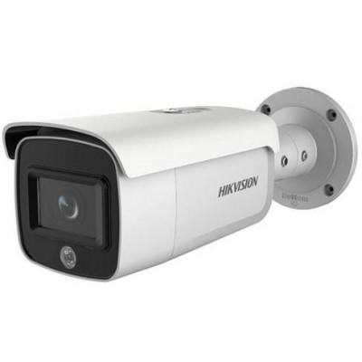 DS-2CD2T46G1-4I/SL(2.8mm) - 4MPix IP Bullet AcuSense kamera, IR 80m, blikač, zvukový Alarm, reproduktor