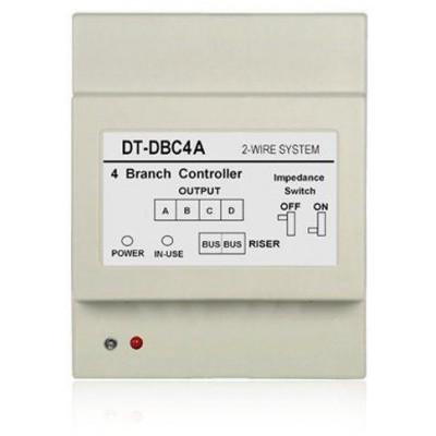 DPA-D2-DBC4A - bez obalu - rozbočovač 2-drátové sběrnice D2, pro připojení 4 dveřních stanic nebo bytových monitorů