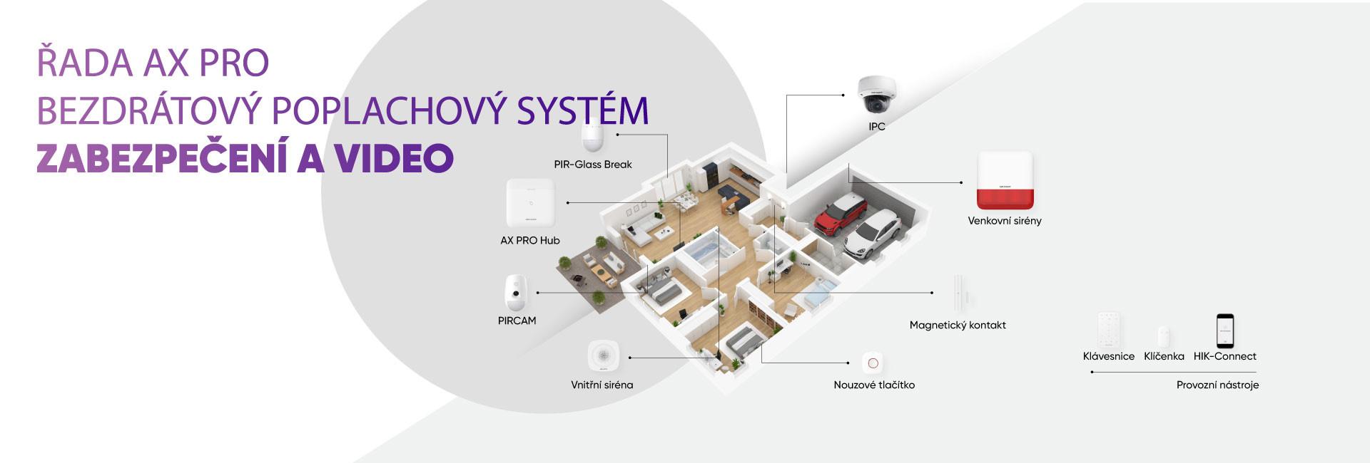 Zabezpečovací systém HIKVISION AX pro